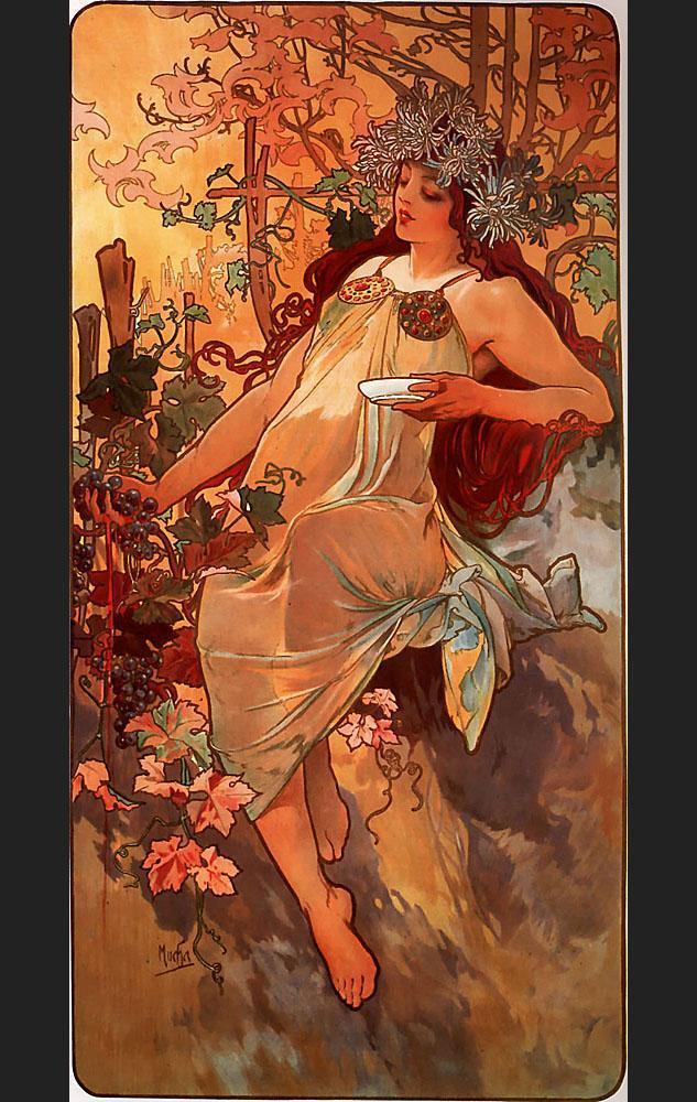 Paintings by Alphonse Mucha