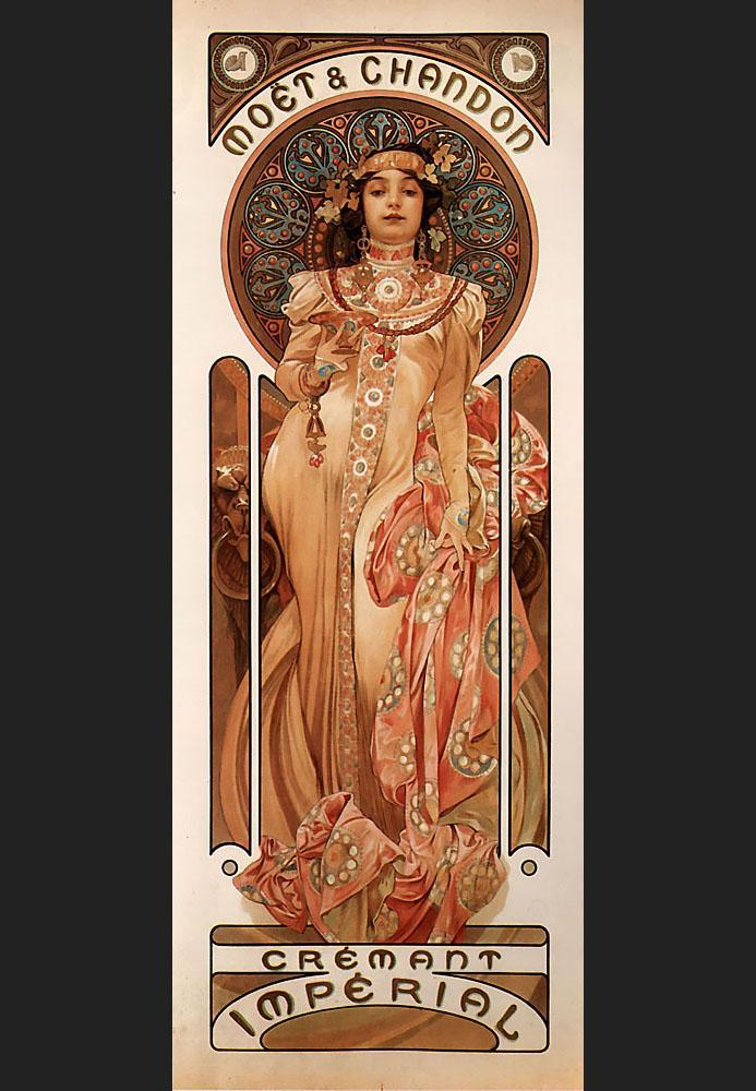 Alphonse Maria Mucha Moet and Chandon Cremant Imperial