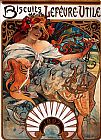 Alphonse Maria Mucha Biscuits Lefevre Utile painting