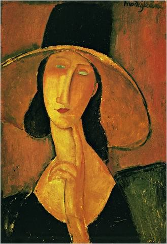 Amedeo Modigliani Jeanne Hebuterne in Large Hat