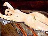 Amedeo Modigliani nude with hands behind head painting