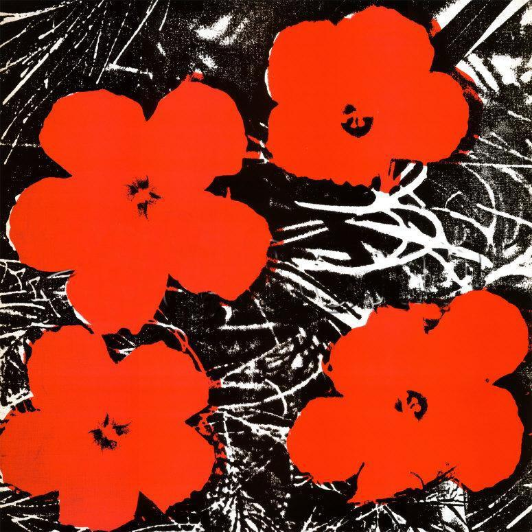 Andy Warhol Flowers Red 1964