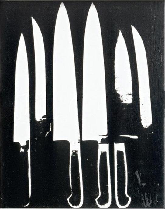 Andy Warhol Knives black and white