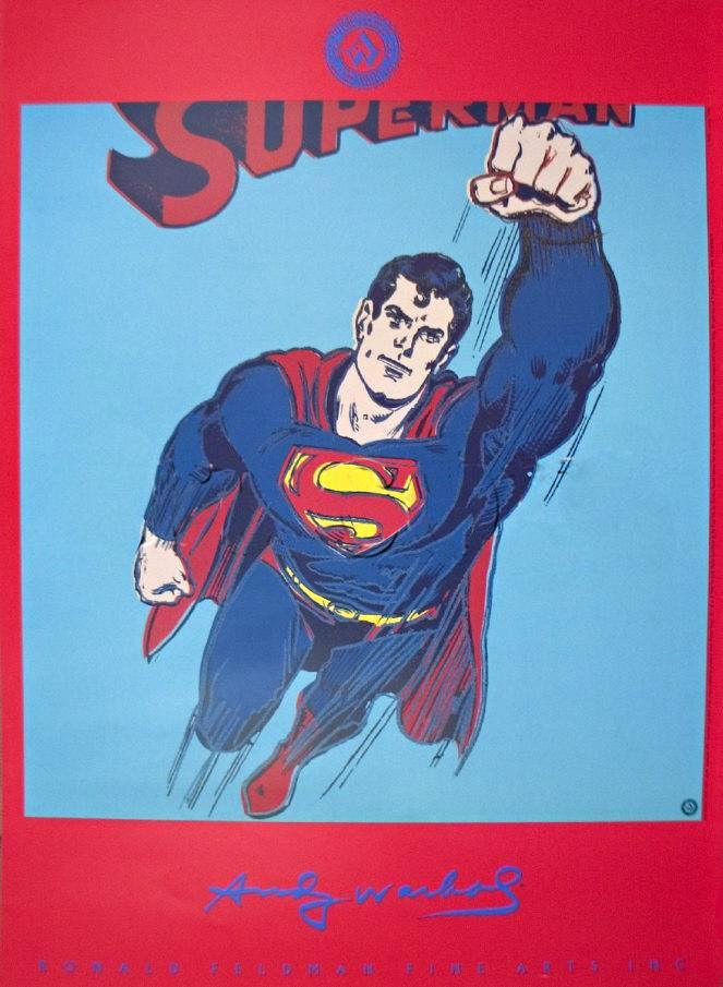 Andy Warhol Superman Painting Framed Paintings For Sale