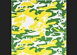 Camouflage green yellow white