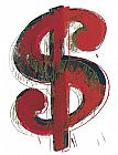 Andy Warhol Dollar Sign 1981 painting