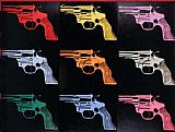 Andy Warhol Famous Paintings - Gun 1982