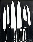 Famous Black Paintings - Knives black and white