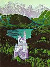 Andy Warhol Neuschwanstein painting