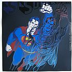 Andy Warhol Wall Art - Superman with Diamond-Dust