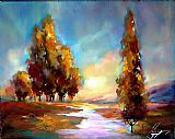 Anna Razumovskaya Canvas Paintings - A River Runs Through it 1