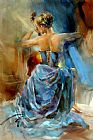 Anna Razumovskaya Canvas Paintings - Blue Note 1