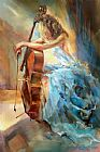 Anna Razumovskaya Canvas Paintings - Blue Note 2