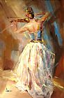 Anna Razumovskaya Canvas Paintings - Blue Note 3