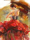 Anna Razumovskaya Red Passion 2 painting