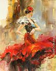 Anna Razumovskaya Wall Art - Rhapsody of Red 2
