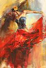 Anna Razumovskaya Wall Art - She Dances In Beauty 1