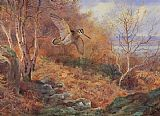 Archibald Thorburn Canvas Paintings - Autumn at Loch Maree