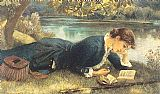 Arthur Hughes The Compleat Angler painting