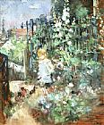 Berthe Morisot Child among Staked Roses painting