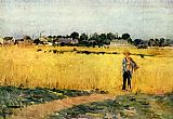Field Canvas Paintings - Grain field, Musee d'Orsay
