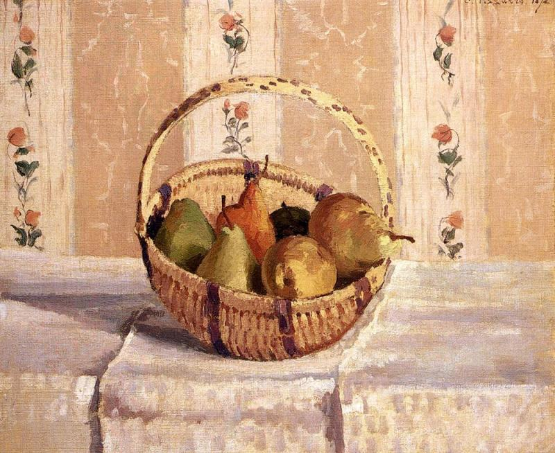 Camille Pissarro Apples and Pears in a Round Basket