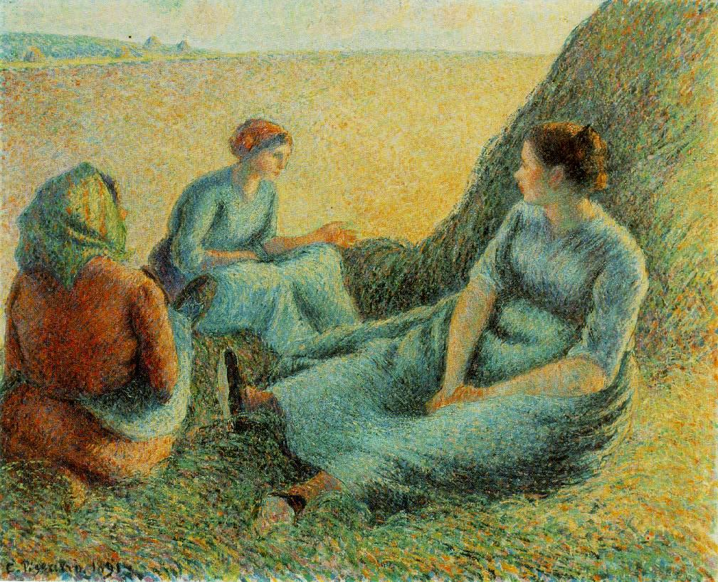 Camille Pissarro Haymakers Resting