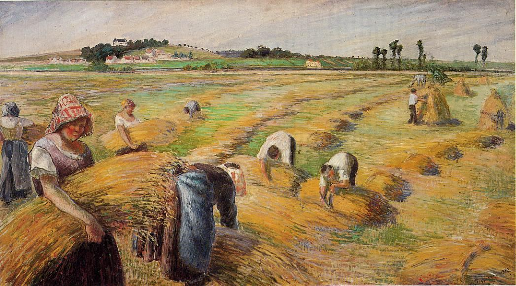 Camille Pissarro The Harvest 1882