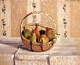 Apples and Pears in a Round Basket