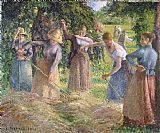 Camille Pissarro Hay Harvest at Eragny painting