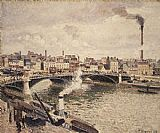 Camille Pissarro Morning An Overcast Day Rouen painting