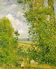Camille Pissarro Resting in the Woods at Pontoise painting