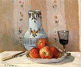 Famous Life Paintings - Still Life with Apples and Pitcher