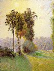 Famous Charles Paintings - Sunset at St. Charles Eragny