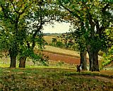 Famous Trees Paintings - The Chestnut Trees at Osny