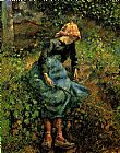 Young Peasant Girl with a Stick