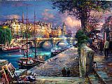 Cao Yong Bank of La Seine painting