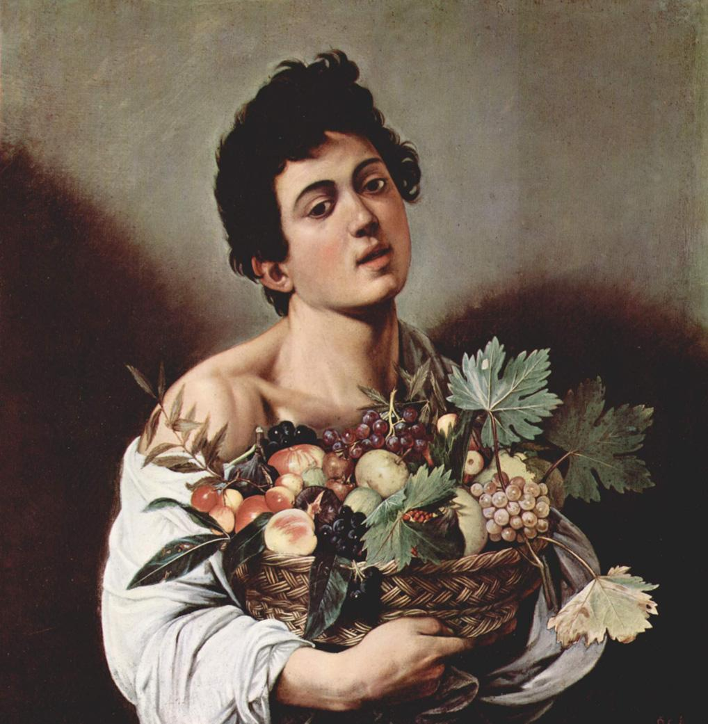 Caravaggio Boy with a Basket of Fruit