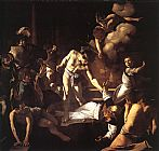 Caravaggio The Martyrdom of St. Matthew painting