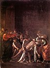 Caravaggio The Raising of Lazarus painting
