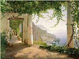 Dia Canvas Paintings - Amalfi dia Cappuccini 1