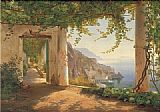 Dia Canvas Paintings - Amalfi dia Cappuccini