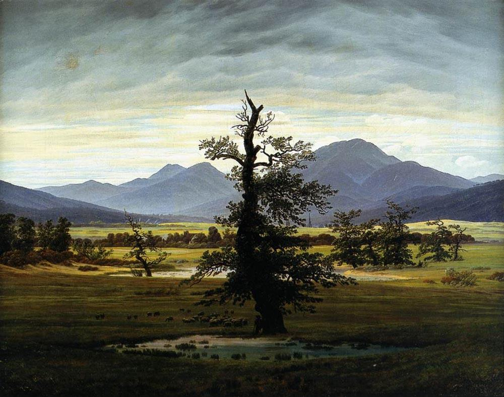 Caspar David Friedrich Village Landscape in Morning Light