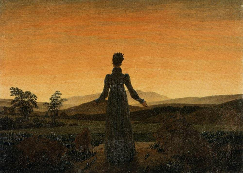 Caspar David Friedrich Woman before the Rising Sun