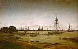 Famous Port Paintings - Port by Moonlight