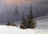 Famous Church Paintings - Winter Landscape with Church