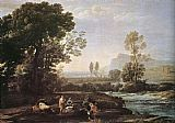 rest Canvas Paintings - Landscape with Rest in Flight to Egypt