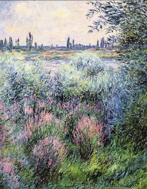Claude Monet A Spot On The Banks Of The Seine