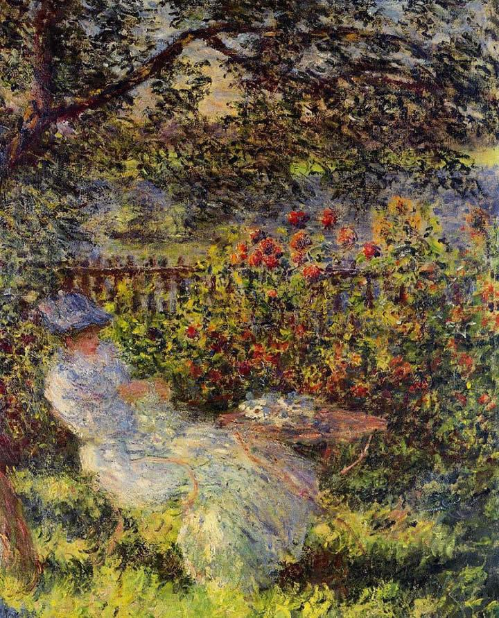 Claude Monet Alice Hoschede in the Garden