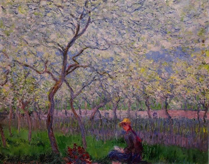 Claude Monet An Orchard in Spring
